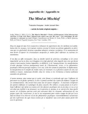 Appendice de :The Mind at Mischief (1929)