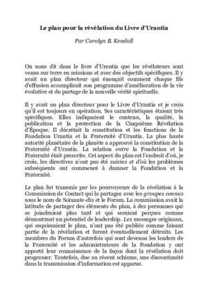 Plan de la Révélation du Livre d'Urantia