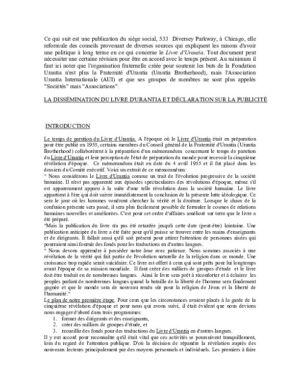 Publicité et dissémination du Livre d'Urantia