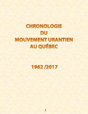 Chronologie du mouvement Urantia au Québec
