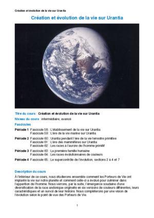Création et évolution de la vie sur Urantia