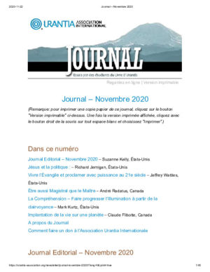 Journal 2020 11
