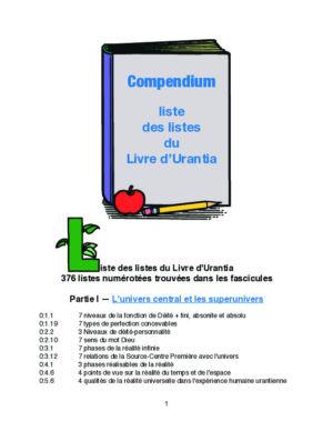 Liste des listes du Livre d'Urantia