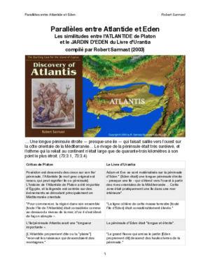 Parallèles entre Atlantis et Eden