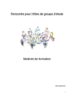 Matériel de Formation de base pour groupes d'étude