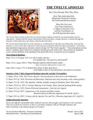 The twelve Apostles (anglais)