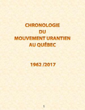 Historique du mouvement Urantia au Québec de 1962 à 2017